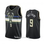 Maillot Milwaukee Bucks Wesley Matthews No 9 Statement 2020-21 Noir