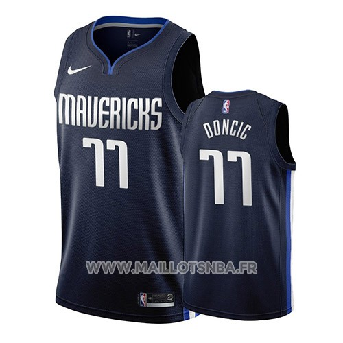 Maillot Dallas Mavericks Luka Doncic No 77 Statement 2019-20 Bleu