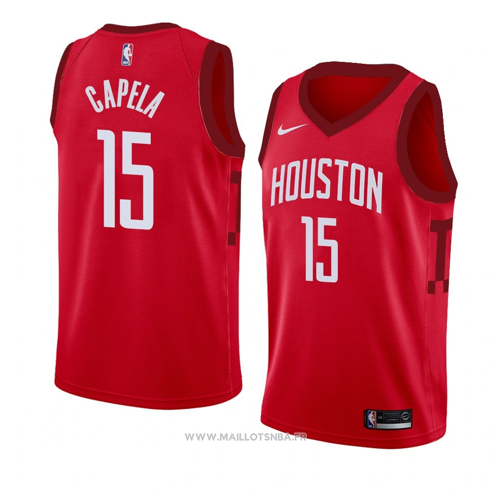 Maillot Houston Rockets Clint Capela No 15 Earned 2018-19 Rouge