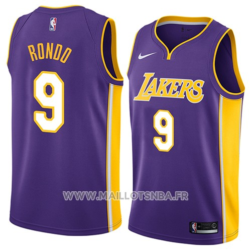 Maillot Los Angeles Lakers Rajon Rondo No 9 Statement 2018 Volet