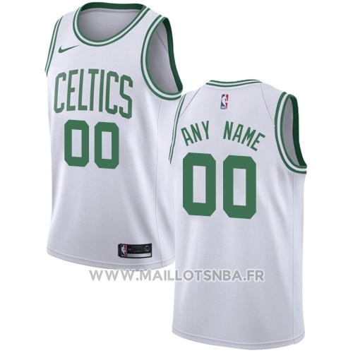 Maillot Boston Celtics Personnalise 2017-18 Blanc